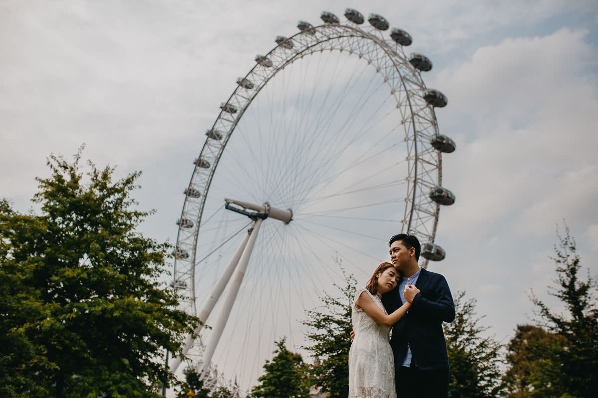 Yin & Rose - engagement shoot in London 14