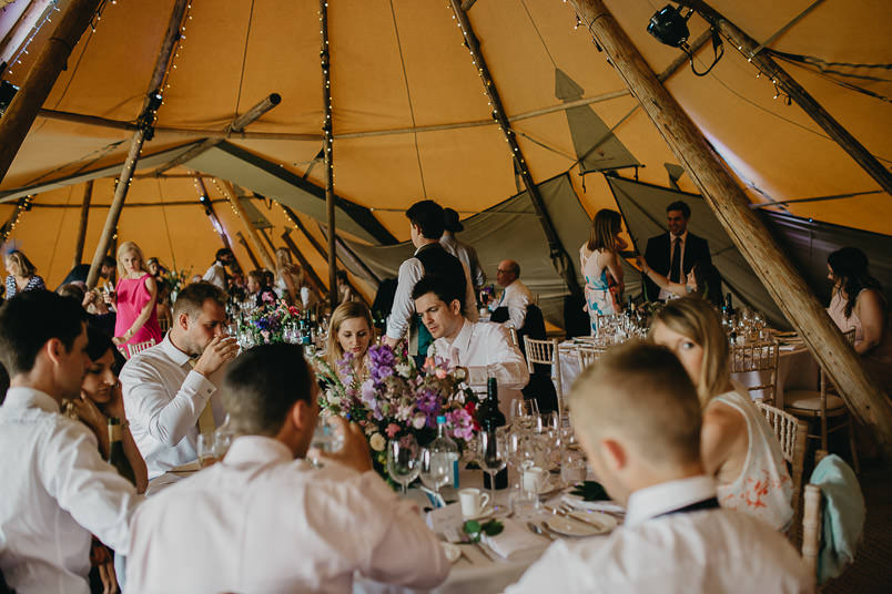 Sunny wedding in a tent - Wedding photographer Hampshire 79