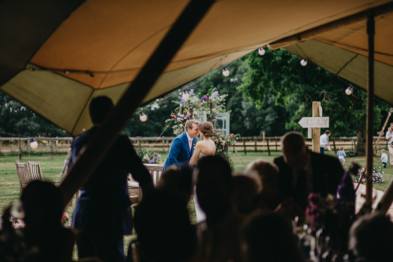 Sunny wedding in a tent - Wedding photographer Hampshire 80
