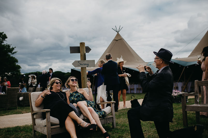 Sunny wedding in a tent - Wedding photographer Hampshire 71