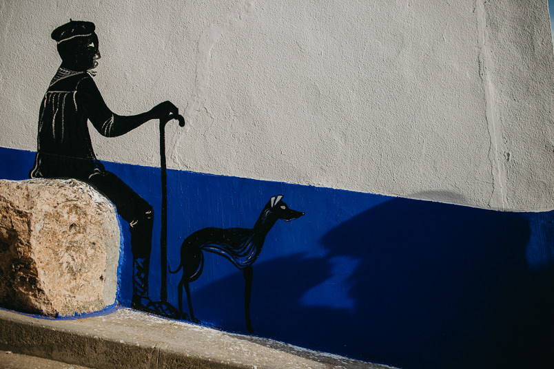 grafitti on the wall in campo de criptana