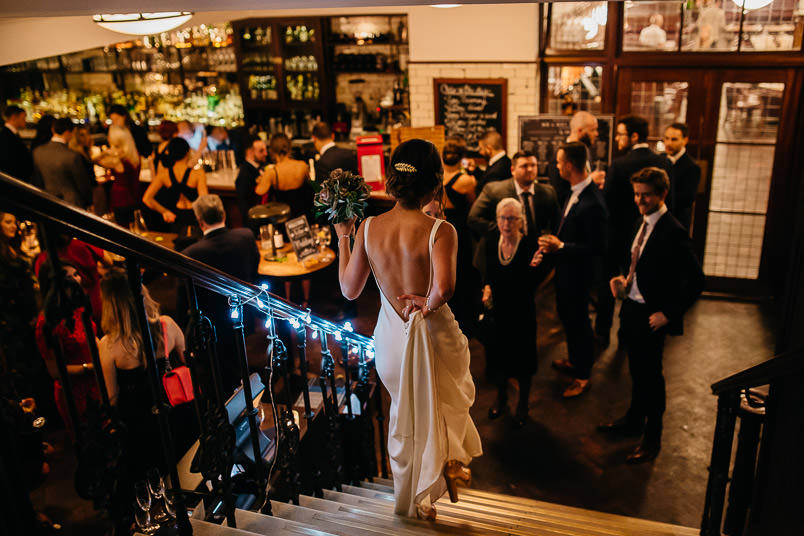 Pub wedding - London wedding photographer 56