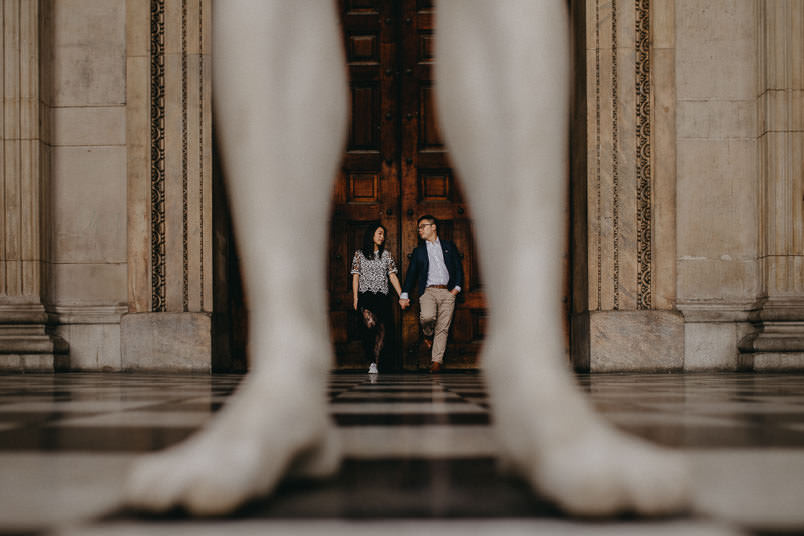 couple at dorrs in st paul's cathedral