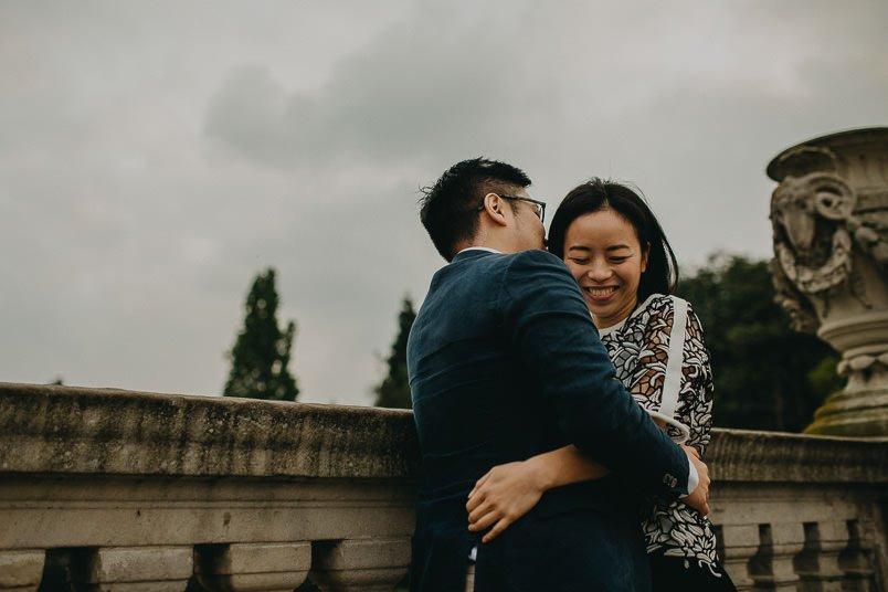happy bride in hyde park