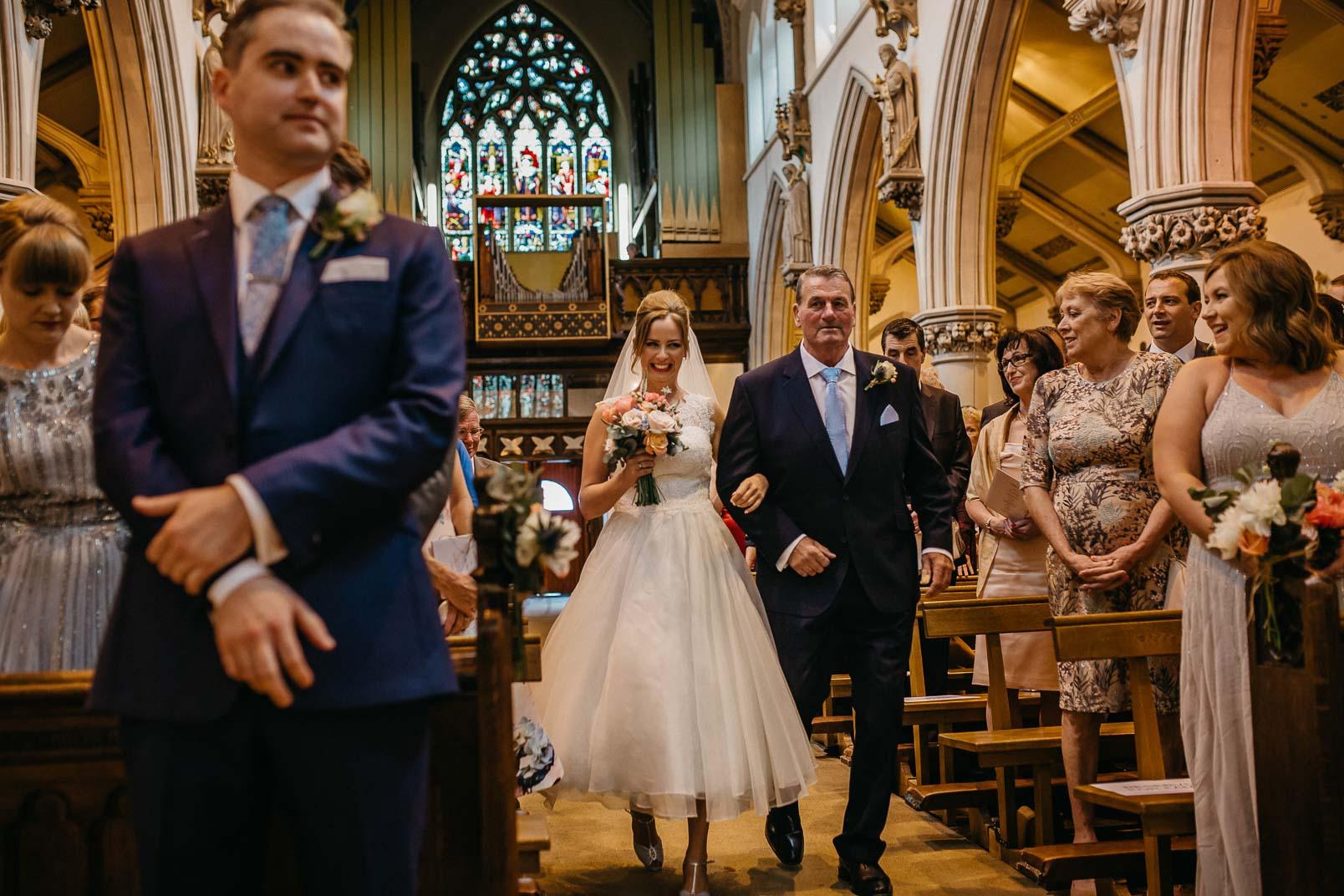 bride walk down the aisle