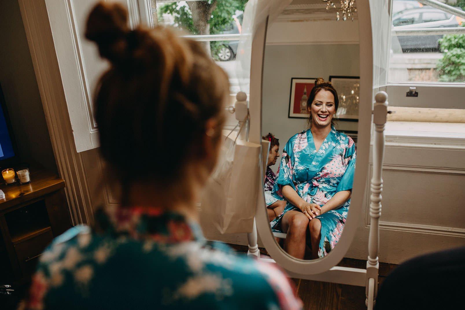 bride mirror reflection