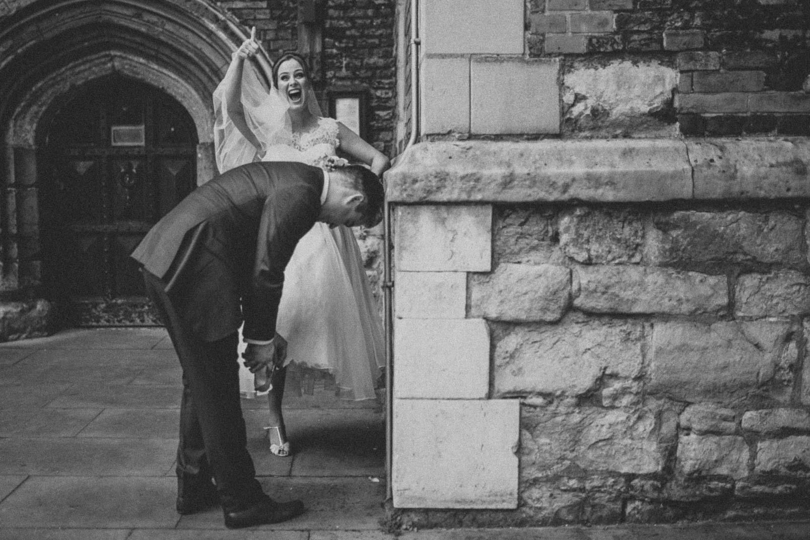Bride and groom portrait professional wedding photographer London