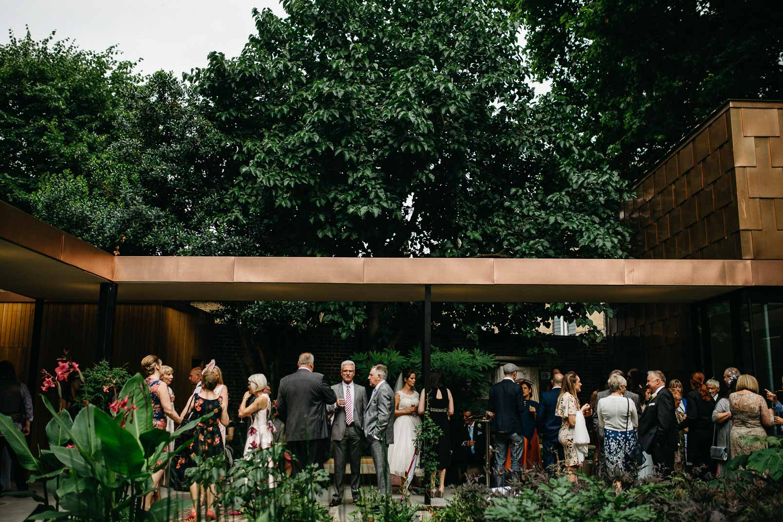 guestis at garden museum wedding