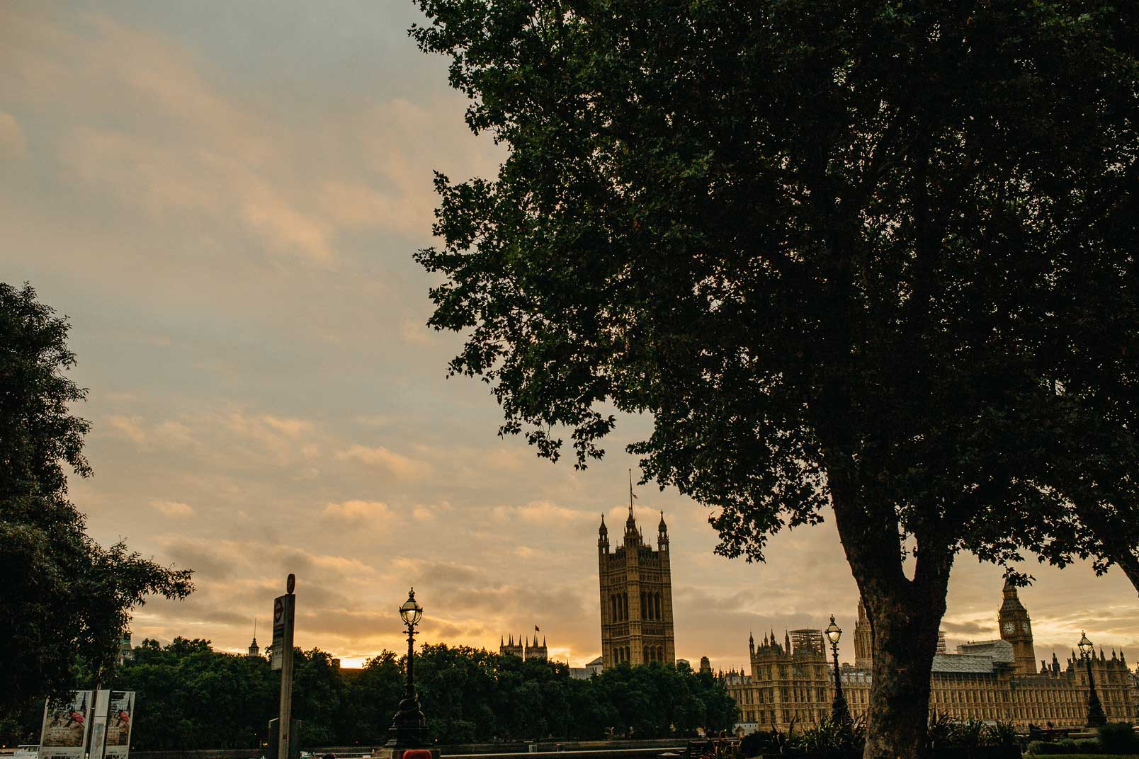 big ben and westminister in golden hour