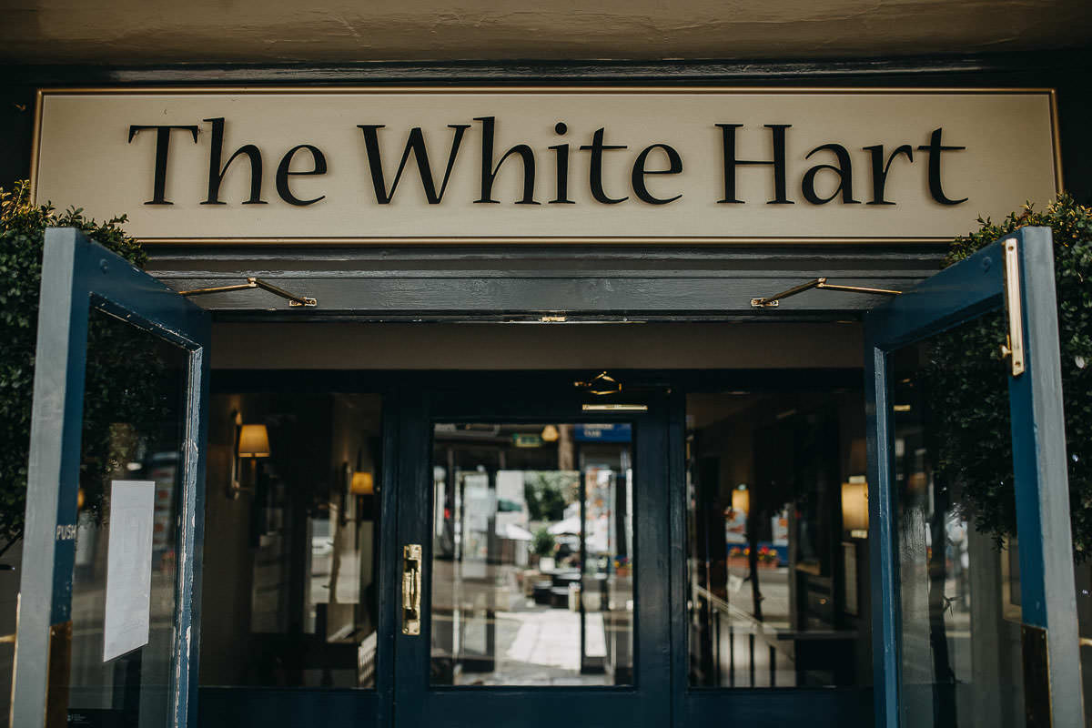 white hart entrance