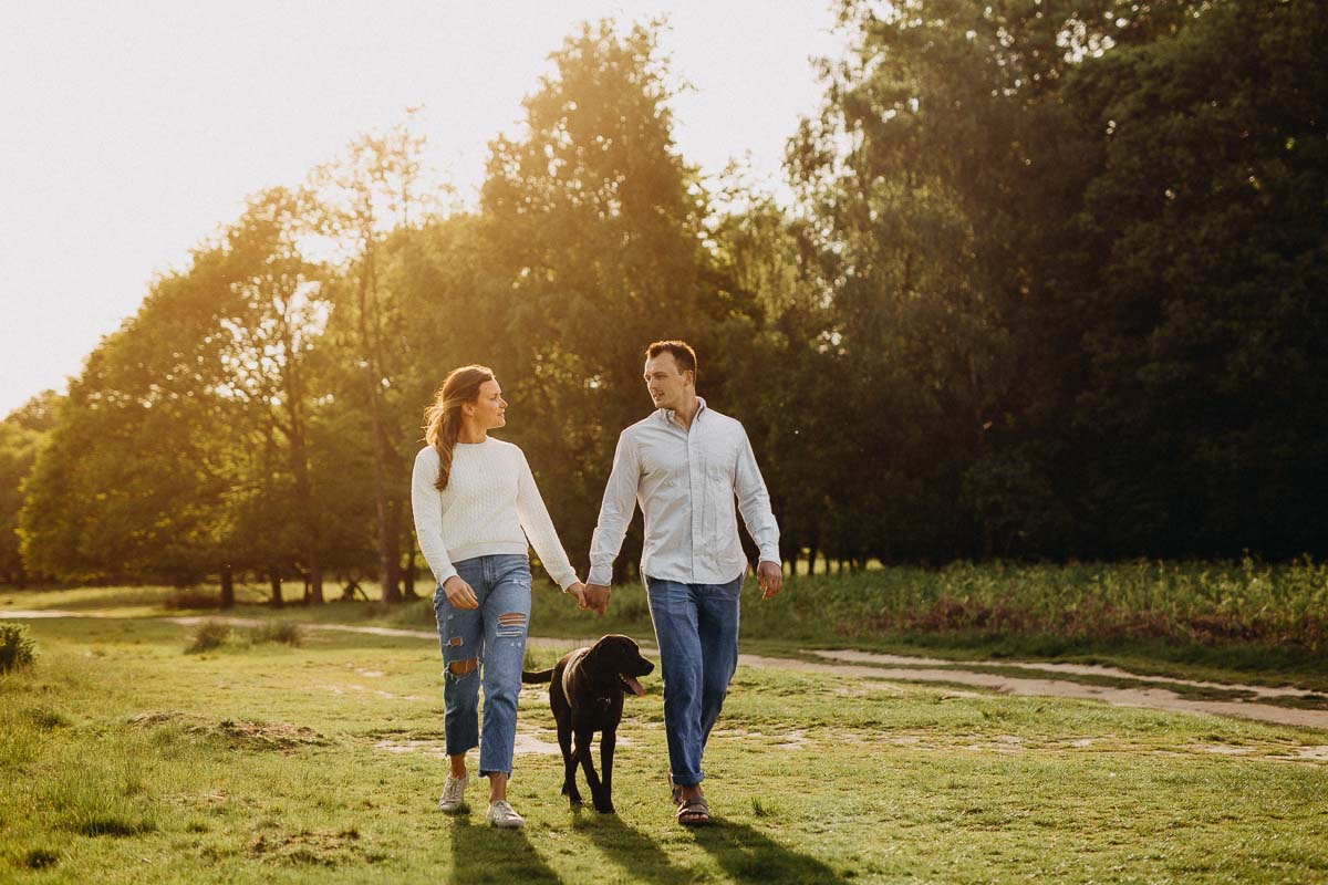 Engagement photos in Richmond Park