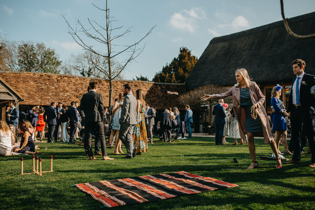 Outdoor wedding games ideas