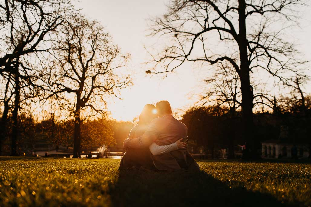 Engagement photo shoot in Hyde Park