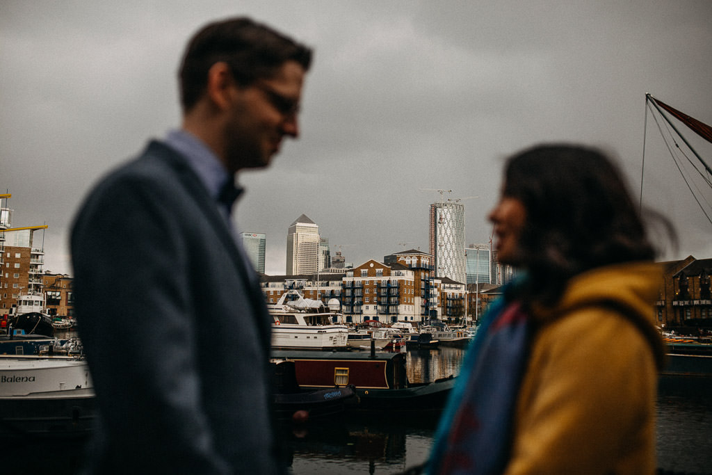 Engagement photos in Limehouse