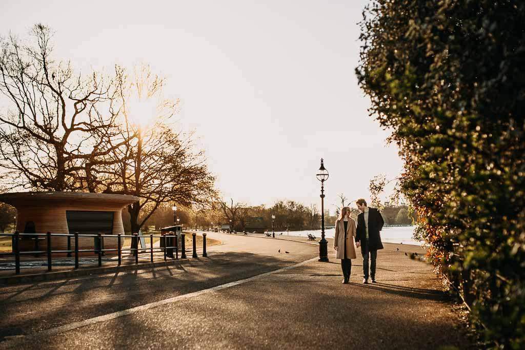 sunrise engagement photos London