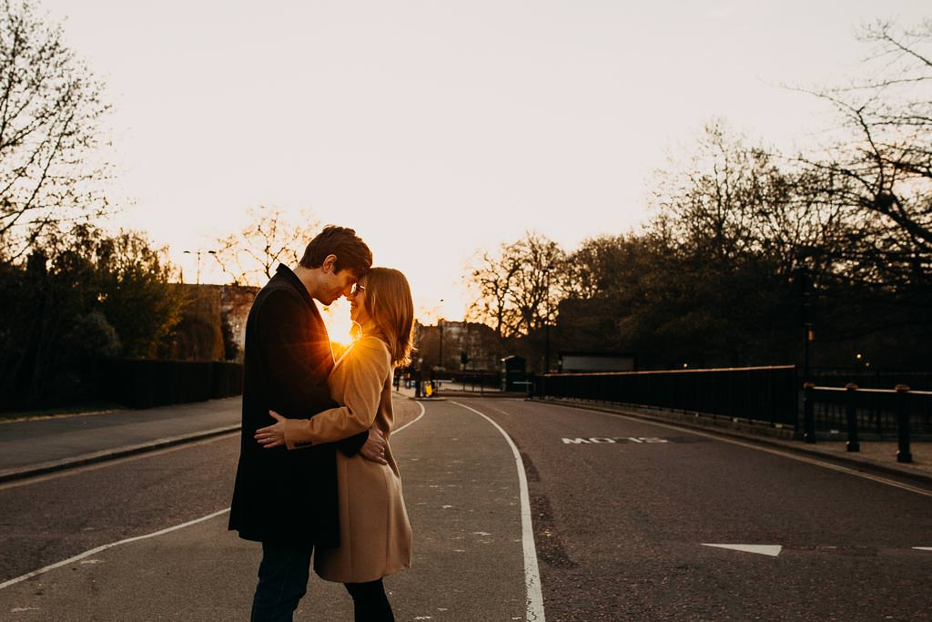 Doing sunrise engagement photos London the right way!